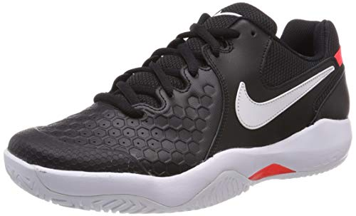 Nike AIR Zoom Resistance, Chaussures de Tennis Homme, Mehrfarbig (Black/White-Bright Crimson 003), 41 EU