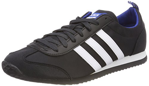 adidas Vs Jog, Chaussures de Gymnastique Homme, Noir (Core Black/FTWR White/Collegiate Royal), 44 EU