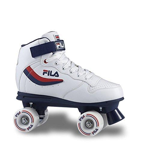 Fila - Ace - Patins à roulettes, quads, Unisexe, pour Adulte M Bianco/Blu/Rosso