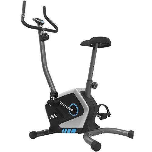 ISE Vélo d'Appartement Magnétique Fitness, Vélo d'intérieur avec Console,8 Niveaux de résistance réglables, Capteurs d'impulsion et Moniteur,Sécurité testée SY-8801
