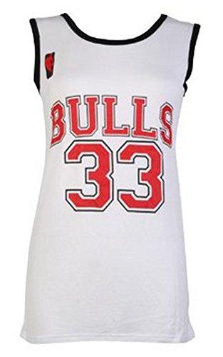 T-shirt de basket-ball américain en jersey pour femme, équipe des Bulls, Équipe de basket universitaire -  - M/L