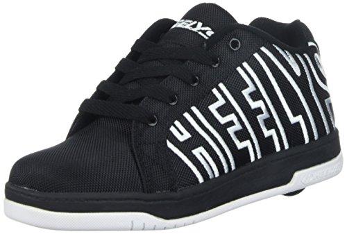 Heelys Split | Chaussures à roulettes pour garçons | (40.5 EU, Black/White)