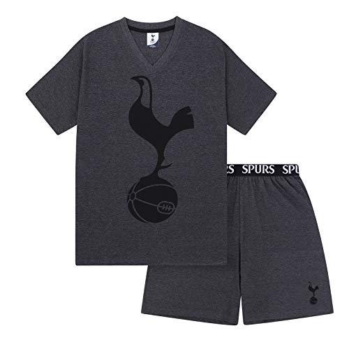 Tottenham Hotspur FC Officiel - Ensemble de Pyjama Court thème Football - Homme - Gris - M