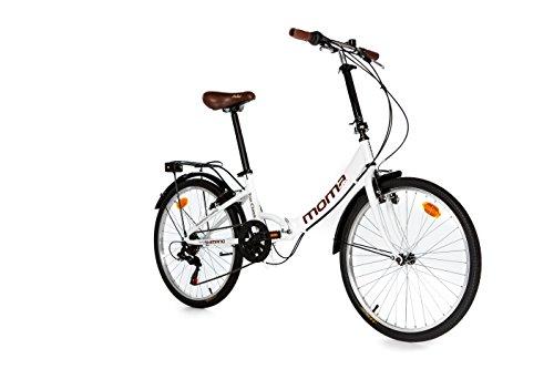 Moma Bikes, Vélo de Ville Pliant, TOP CLASS 24', Aluminium, 6V, Selle Comfort