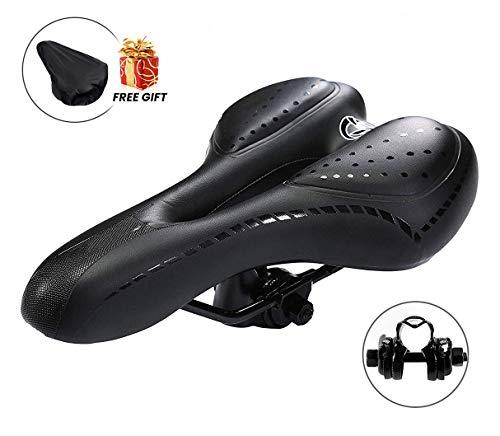 Charlemain Selle Velo, Selle VTT Gel Selle de Vélo Selle Vélo Confort Convient pour VTT/Bicyclette/Cyclisme, Siège de Vélo Creux et Ergonomique