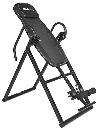 SporPlus - Table d'inversion - Angles d'inversion 20°, 40°, 60°, 80°,  +/- 90° - Pliable - Soulagement Dos par Gravité - Poids et Taille max de l'Utilisateur de 154 à 199 cm / 135kg - Sécurité testée