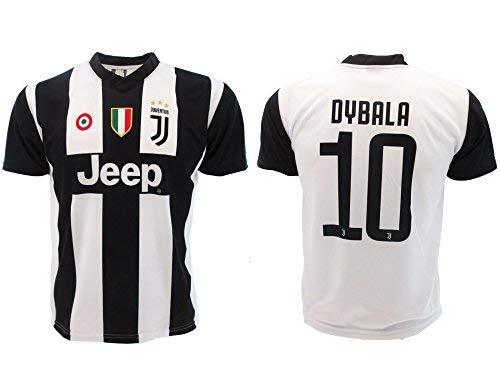 T-Shirt Maillot de Football Paulo Dybala 10 Juventus Nouveau Saison 2018-2019 Replica Officiel avec Licence - Tous Les Tailles Enfants et Adultes (L Large)