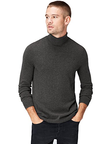 find. Roll Neck Pull, Gris (Mid Grey), 54