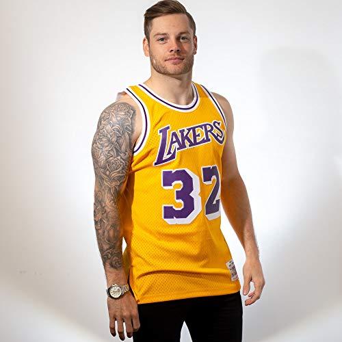 Mitchell & Ness - Maillot NBA swingman Magic Johnson Los Angeles Lakers Hardwood Classics Mitchell & ness jaune taille - XL