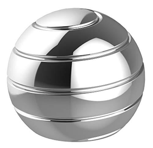 CaLeQi Desktop Transfer Transfer Gyro Alliage d'aluminium Kinetic Bureau Jouet Soulagement du Stress Bureau Exécutif Gadgets Balle en métal Démontage Complet Rotary Decompression Toy