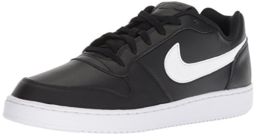 Nike Ebernon Low, Chaussures de Basketball Homme, Multicolore (Black/White 002), 42 EU