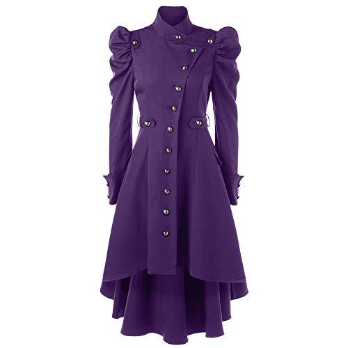 Kaister Veste Kimono Gilet Blazer Manteau Hiver Femme Vintage Steampunk Long GothicLadies Retro