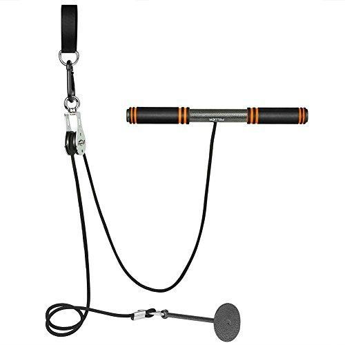PELLOR Rouleau de Poignet Equipements pour Musculation Wrist Roller d`entraînement pour d'avant-Bras