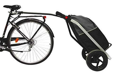 BIKE ORIGINAL Shopping Trailer Chariot Mixte Adulte, Noir/Gris