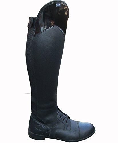 Ryda Gloss Top en Cuir véritable pour Femmes d'équitation Jambières Guêtres 15Tailles, XXS