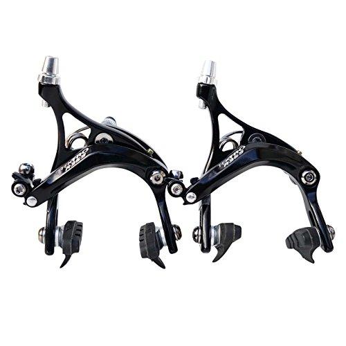 Tektro R359Long Drop Étriers de frein pour vélo de route Noir ou Argent 47–57mm, R359, noir