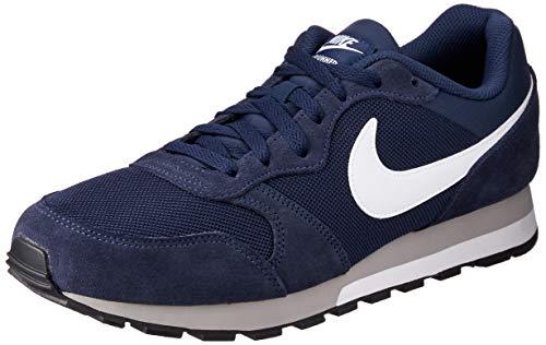 Nike MD Runner 2, Baskets mode homme - Bleu (Midnight Navy/White-Wolf Grey 410), 42 EU