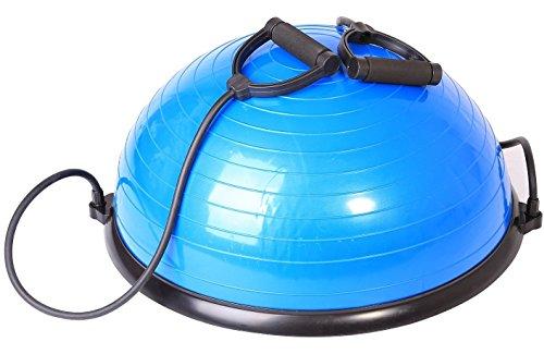 SportPlus - ballon d'équilibre Ø 62 cm/équipement de fitness avec cordes élastiques, utilisable de chaque côté, testé GS, SP-GB-001