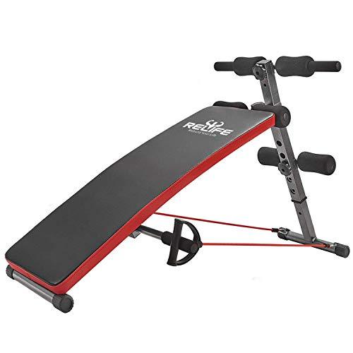 RELIFE REBUILD YOUR LIFE Transforme Votre Vie Banc à Abdominaux Gym Exercice Réglable Entraînement Pliable D'entraînement Fitness AB Crunch