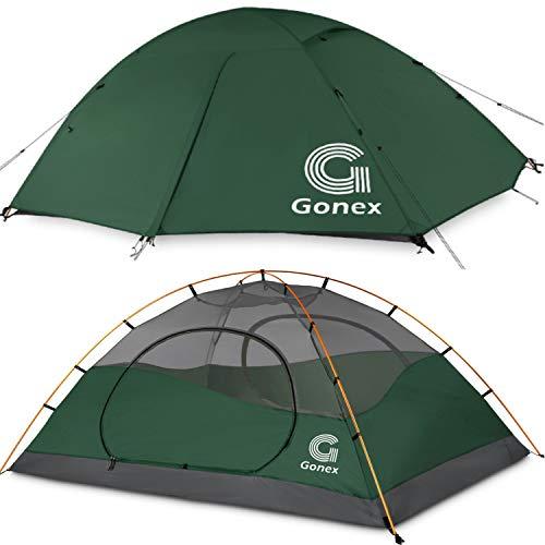 Gonex Tente de Camping 2 Personnes 3 Saisons Dôme Classique Imperméable Résistante au Vent