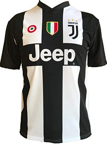 JUVE T-Shirt Maillot de Football Cristiano Ronaldo 7 CR7 Juventus Nouveau Saison 2018-2019 Replica Officiel avec Licence - Tous Les Tailles Enfants (2 4 6 8 10 12 Ans) et Adultes (S M L XL) (4 Ans)