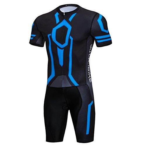 logas Combinaison Triathlon Nage Mahche Courte Vetement Trifonction pour Homme