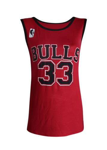 Desire Clothing Gilet de Style Basketball NBA Chicago Bulls 33 pour le Celeb Look 'Amerika, BULLS: RED, 8 / 10