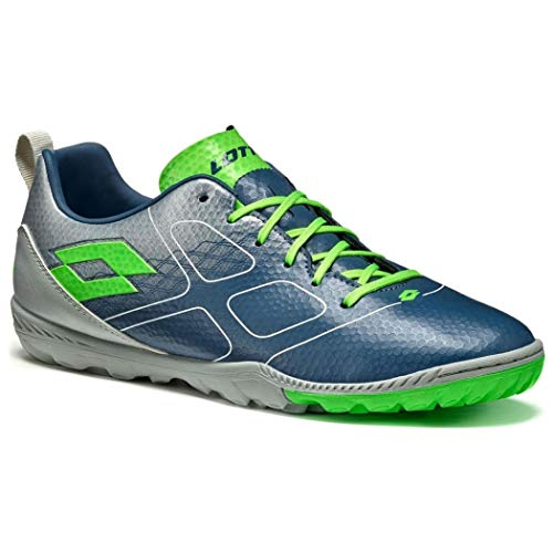Lotto Maestro 700 Turf, Chaussure de Football, Blue City-Mint, Taille 7.5 US (40 EU)
