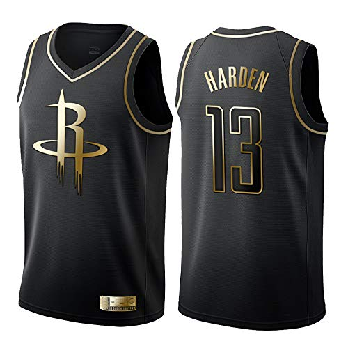 NBA Houston Rockets 13# Harden, Maillot de Basket-Ball, Maillots,Maillot de Supporters, Gilet Respirant à séchage Rapide,Homme