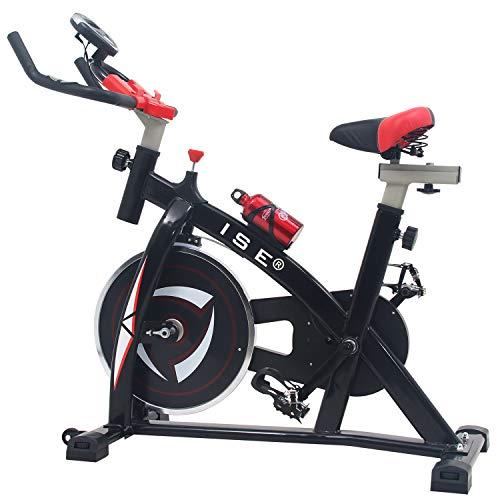 ISE Vélo D'appartement Ergomètre Cardio Vélo de Biking vélo spinning biking exercice de fitness d'aérobie, Silencieux, Poids d'inertie 10 KG
