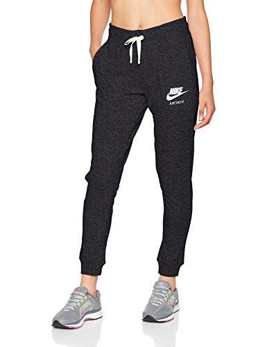 Nike Sportswear Gym Vintage Pant Pantalon Femme, Black/sail, FR : M (Taille Fabricant : M)
