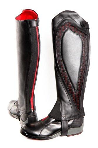 Comfort Zone Guêtres d'équitation XS noir - Noir/Rouge