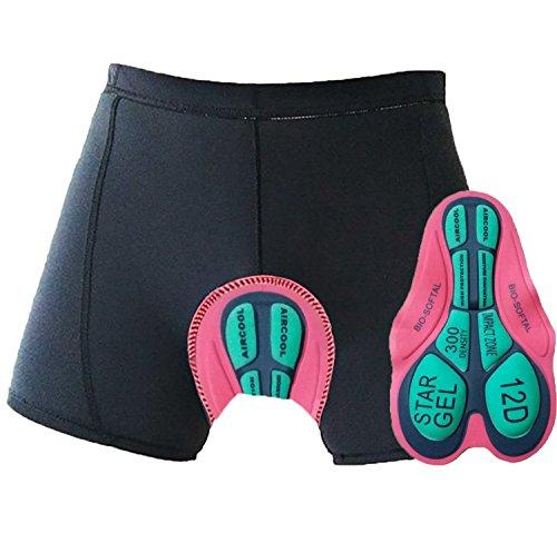 Oleein Caleçon de Cyclisme Sueur Absorbant Volatilité Séchage Rapide Gel 3D Rembourré de Vélos Cyclisme sous-vêtements Sport Shorts Pant de Vélo pour Hommes et Femmes