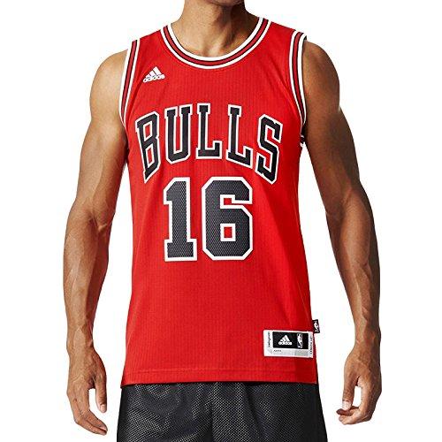 adidas Int Swingman 16 Bulls Maillot pour Homme XS Rouge/Noir