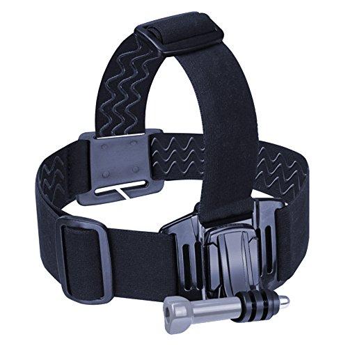 USA Gear Sangle Frontale Elastique Fixation pour Casque Bandeau de Tête Pour Caméra d'Action GoPro , Qumox , TecTecTec XPRO , SJCam Et Plus de Caméras Embarquées