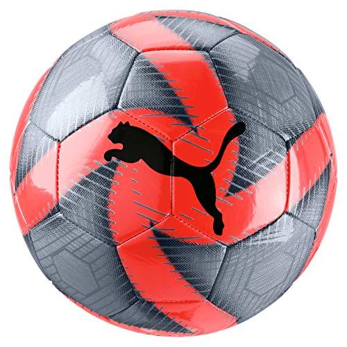 PUMA Future Flare Ball Ballon De Foot Mixte Adulte, Grey Dawn-NRGY Red-Asphalt White, 5