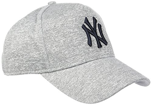 New Era Jersey Tech AFRAME New York Yankees Gray/Navy Casquette 9FORTY Trucker Homme, Gris, FR Unique (Taille Fabricant : OSFA)