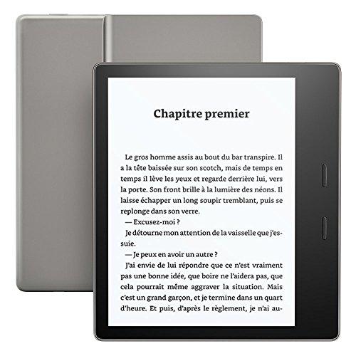 Liseuse Kindle Oasis - Graphite, Résistante à l'eau, Écran haute résolution 7' (17,7 cm) 300 ppp,  8 Go Wi-Fi