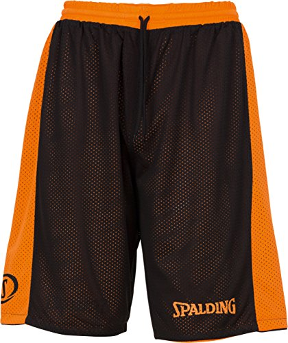 SPALDING - ESSENTIAL REVERSIBLE SHORT - Short de basket - Short reversible - Confort maximal - orange/noir - M