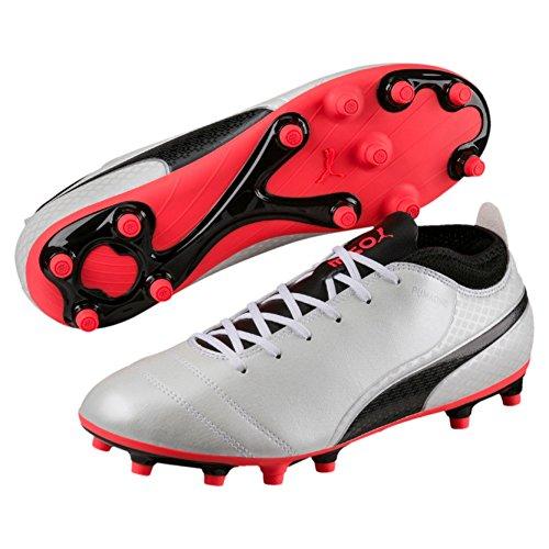 Puma One 17.4, Chaussures de Football Homme, Blanc (White-Black-Fiery Coral), 42 EU