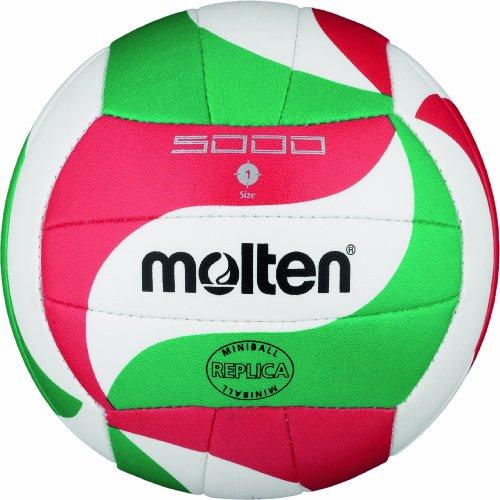 Molten V1M300 Ballon de volley-ball Blanc/vert/rouge Ø 15
