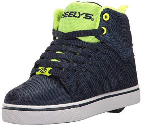 Heelys Uptown, Baskets Hautes garçon, Bleu (Navy/Yellow Ballistic), 39 EU