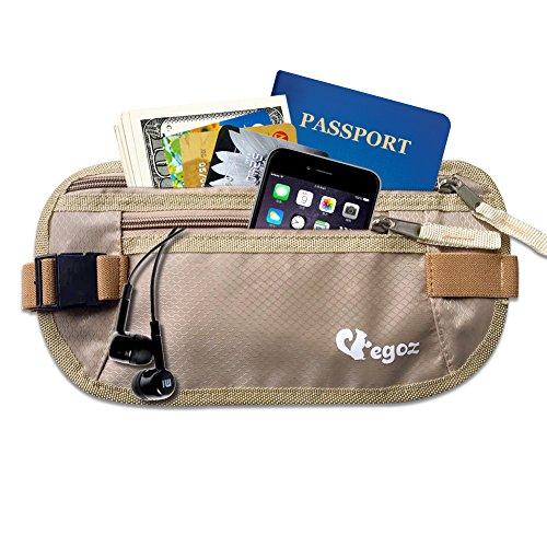 Cashew By Egoz Voyage équipement argent Ceinture secrète sac de taille Sac  pochette Sécurise espèces passeport eb799623389