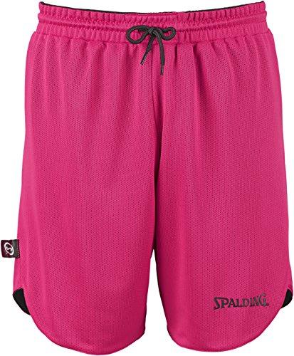 SPALDING - DOUBLE FACE KIT REVERSIBLE JUNIOR - Kit Maillot et Short de Basket Junior - Kit reversible Junior - Confort maximal - noir/rose -  - FR: 128 (Taille Fabricant: XXS)