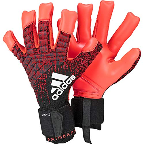 adidas Predator Pro Hybrid Gants Gardien de But Mixte Adulte, Active Black/Solar Red, FR : XL (Taille Fabricant : 9)