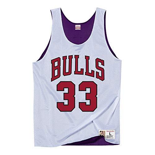Mitchell & Ness NBA Débardeur Chicago Bulls Scottie Pippen 1995 All Star #33 White XL Mauve/Blanc