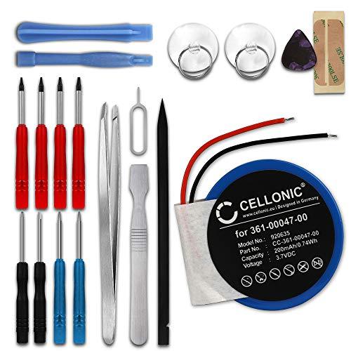 CELLONIC Batterie Compatible avec Garmin Approach S1 Approach S3 Approach S4 Garmin Forerunner 110 Forerunner 210, 361-00047-00 361-00064-00 200mAh + Set de Micro vissage Accu Rechange Remplacement