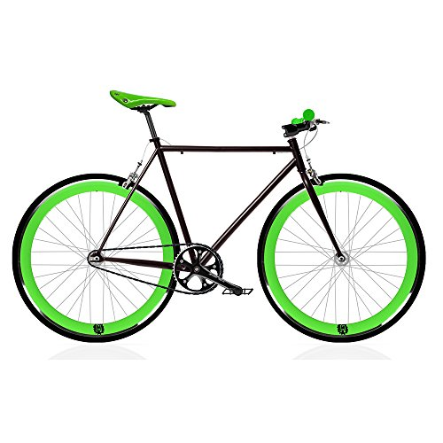 Vélo Fix Black and Green. monomarcha Fixie/single speed. Taille 56...