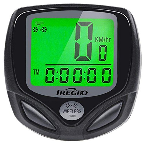Ordinateur de Vélo iRegro de l'ordinateur automatique réveil LCD affichage étanche sans fil vélo compteur de vitesse, compteur kilométrique vélo