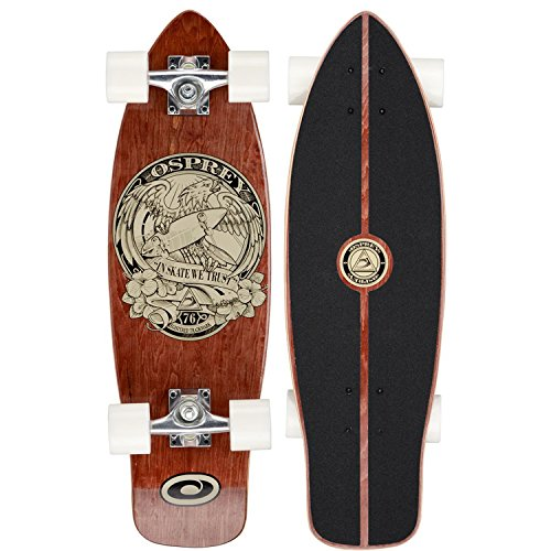Osprey 27in Beginner Cruiser Skateboard - in Skate We Trust Single Kick